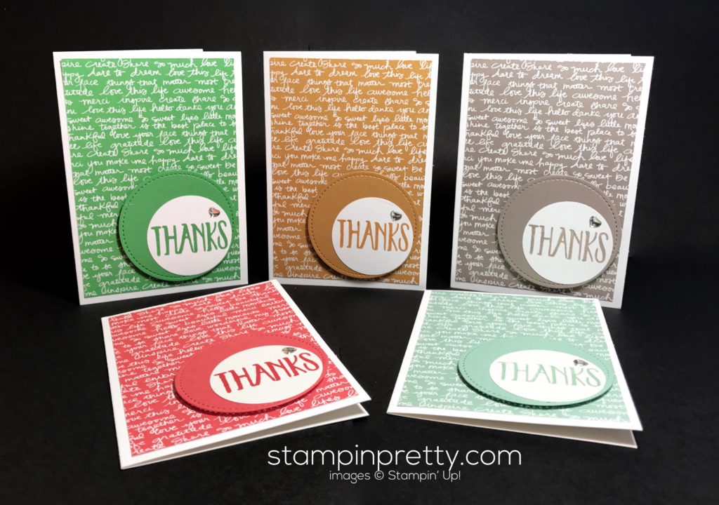 Spampin Up 2015 2016 In Colors Thank You Card Ideas Mary Fish Stampinup