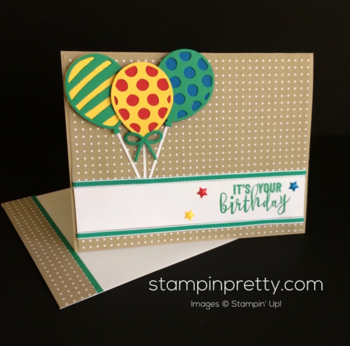 Stampin Up Balloon Adventures Birthday Card - Mary Fish stampinup