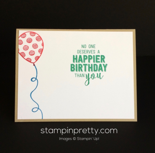 Stampin Up Balloon Adventures Birthday cards idea - Mary Fish stampinup