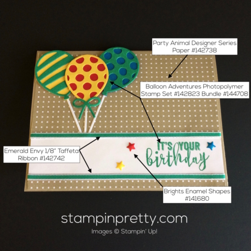 Stampin Up Balloon Adventures Birthday cards ideas - Mary Fish stampinup