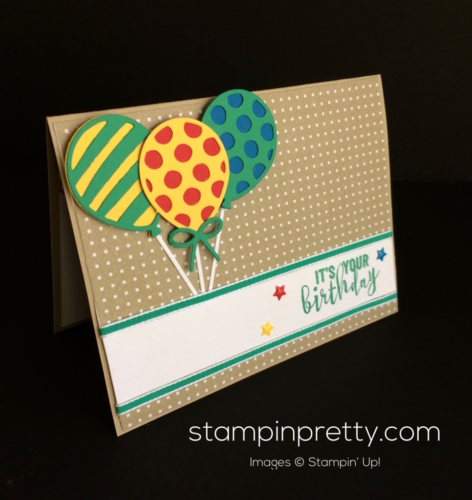 Stampin Up Balloon Adventures Brithday card idea - Mary Fish stampinup