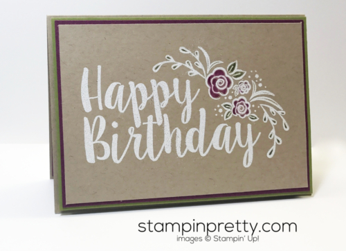 Stampin Up Big on Birthdays Clean and simple birthday card Mary Fish Stampinup