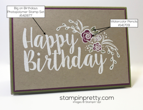 Stampin Up Big on Birthdays Clean and simple card Mary Fish Stampinup
