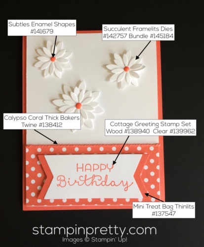 Stampin Up Cottage Greetings Birthday cards ideas - Mary Fish stampinup