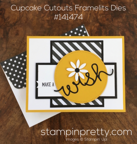 Stampin Up Cupcake Cutouts Framelits Dies Birthday Card Idea - Mary Fish StampinUp