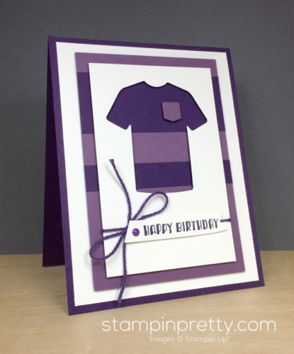 Stampin Up Custom Tee Masculine Card Idea - Mary Fish StampinUp Purple