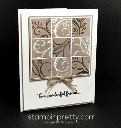 Stampin Up Falling Flowers Monochromatic card Mary Fish Stampinup