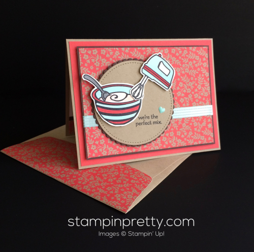 Stampin Up Perfect Mix Just Because Card - Mary Fish stampinup