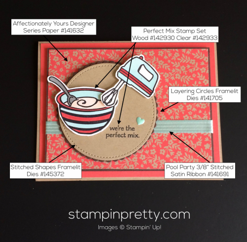 Stampin Up Perfect Mix Just Because cards ideas - Mary Fish stampinup