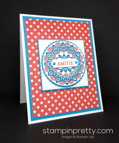 Stampin Up SaleABration Make a Medallion Friendship Card Idea - Mary Fish StampinUp