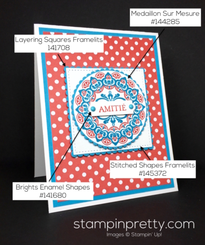 Stampin Up SaleABration Make a Medallion Friendship Card Idea - Mary Fish StampinUp Supply List
