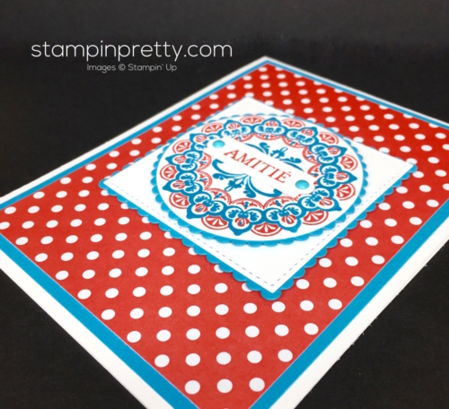 Stampin Up SaleABration Make a Medallion Friendship Card Ideas - Mary Fish StampinUp