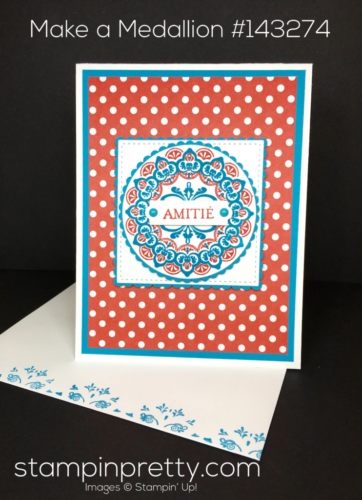 Stampin Up SaleABration Make a Medallion Friendship Cards Idea - Mary Fish StampinUp