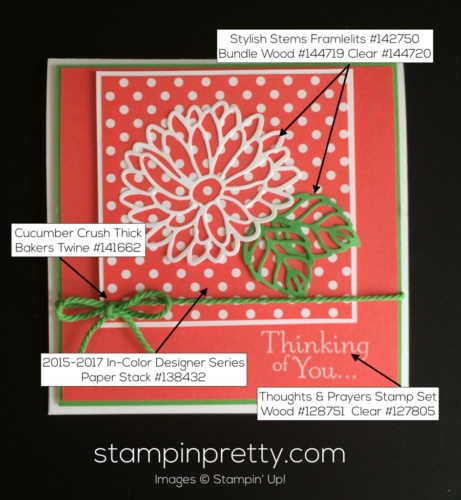 Stampin Up Stylish Stems Just Because cards ideas - Mary Fish stampinup