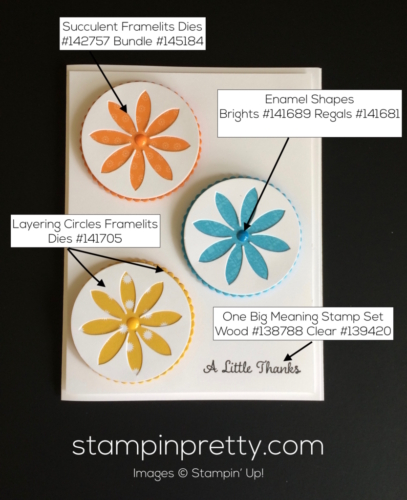 Stampin Up Succulent Thank You cards ideas - Mary Fish stampinup