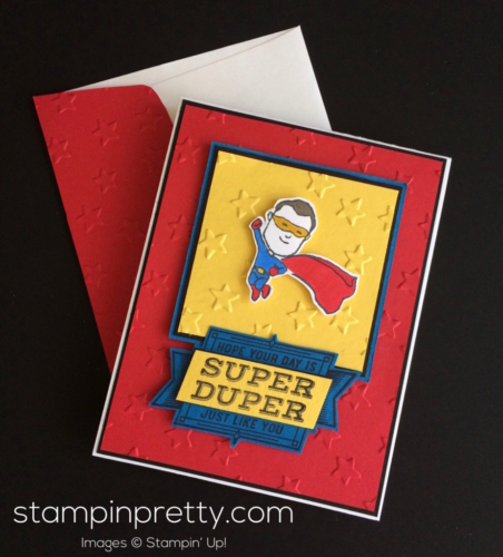 Stampin up Everyday Hero Masculine Card - Mary Fish stampinup