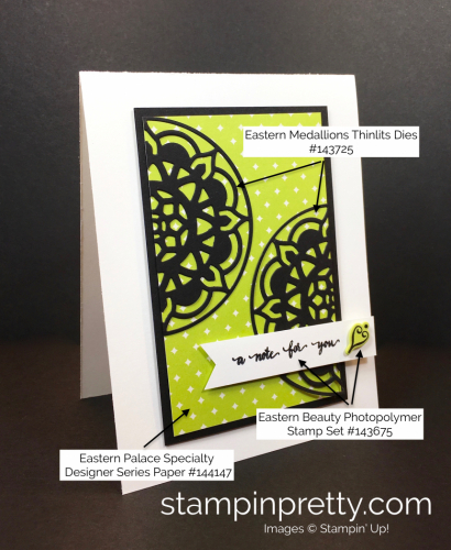 Eastern Palaces Medallions Dies Thank You Note - Mary Fish StampinUp supply list