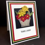 Basket Builder Framelits Dies (50% Off) Thank You Card!