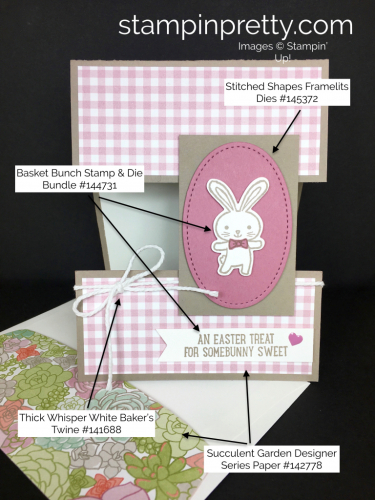 Stampin Up Basket Bunch Easter Card Idea - Mary Fish StampinUp Supply List