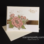 Pretty Pink & Gold Birthday Blooms Card
