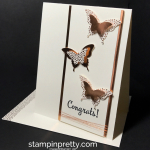 Copper Butterfly Congratulations Card