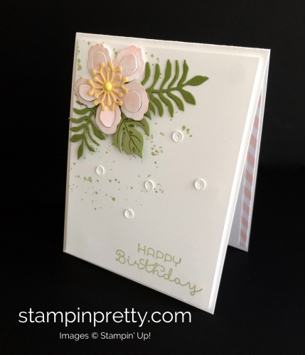 Stampin Up Botanical Blooms Birthday Card Idea - Mary Fish stampinup
