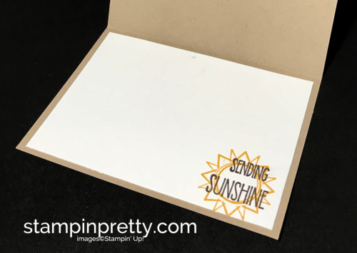 Stampin Up Day at the Beach So in Love Sunshine Sayings Thinking of you card idea Mary Fish Stampinup