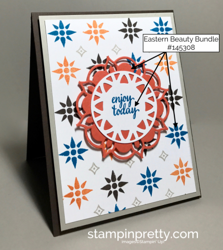 Stampin Up Eastern Beauty Bundle Inspired by Color Birthday Card ideas Mary Fish Stampinup