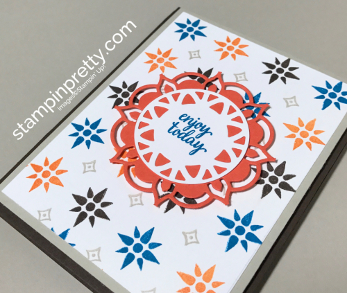 Stampin Up Eastern Beauty Bundle Inspired by Color Birthday card Mary Fish STampinup