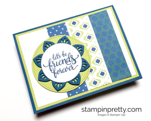 Stampin Up Eastern Palace Medallions friendship cards idea - Mary Fish StampinUp