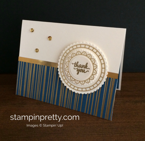 Stampin Up Eastern Palace Thank You Card Idea - Mary Fish stampinup
