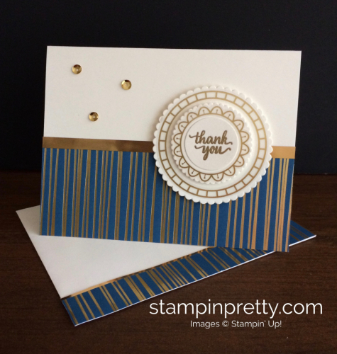 Stampin Up Eastern Palace Thank You Card - Mary Fish stampinup