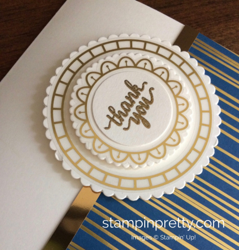 Stampin Up Eastern Palace Thank You Cards Idea - Mary Fish stampinup