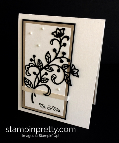 Stampin Up Flourishing Phrases Wedding Card Idea - Mary Fish stampinup