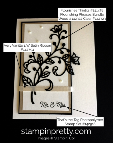 Stampin Up Flourishing Phrases Wedding Card Ideas - Mary Fish stampinup