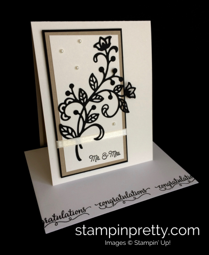 Stampin Up Flourishing Phrases Wedding Card - Mary Fish stampinup