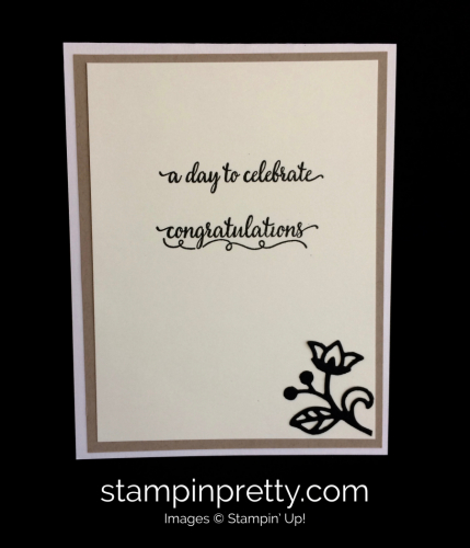 Stampin Up Flourishing Phrases Wedding Cards Idea - Mary Fish stampinup