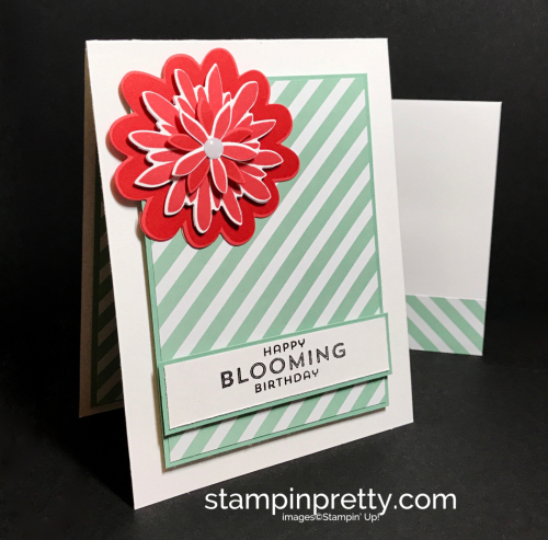 Stampin Up Flower Patch Flower Fair Framelits Birthday card idea Mary Fish Stampinup