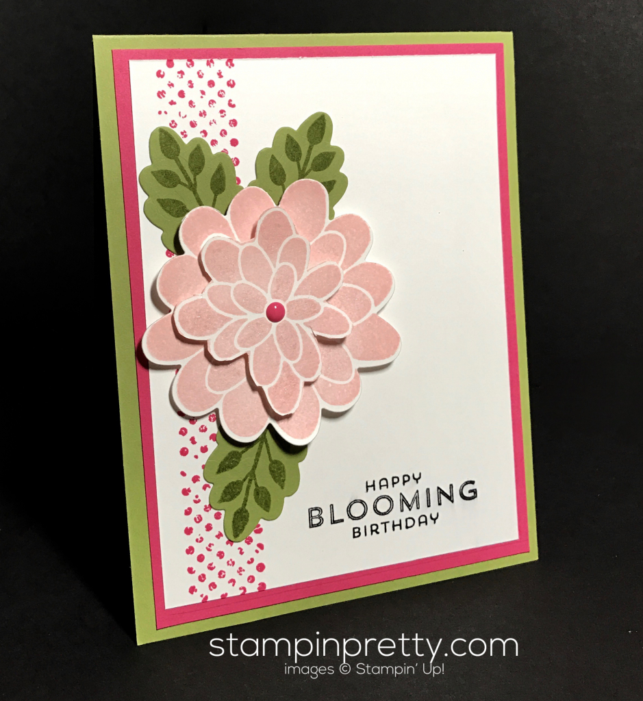Inspired by color birthday card stampin 39 pretty for Mary fish stampin up