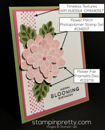 Stampin Up Flower Patch Timeless Textures Inspired by Color card Mary Fish Stampinup