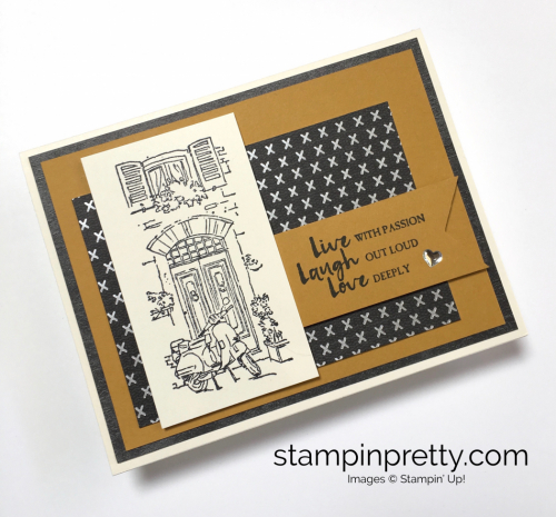 Stampin Up Mediterranean Moments Love Card Idea - Mary Fish StampinUp