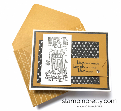 Stampin Up Mediterranean Moments Love Cards Idea - Mary Fish StampinUp
