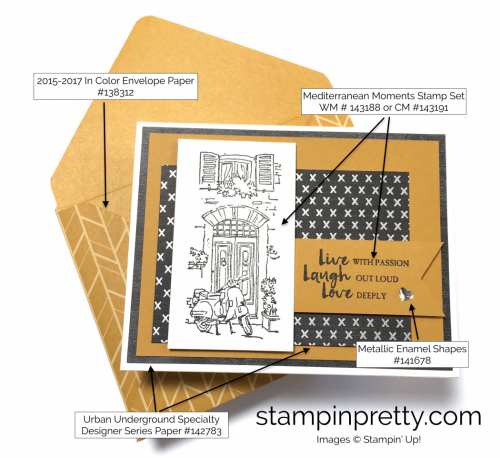 Stampin Up Mediterranean Moments Love Cards Idea - Mary Fish StampinUp Supply List