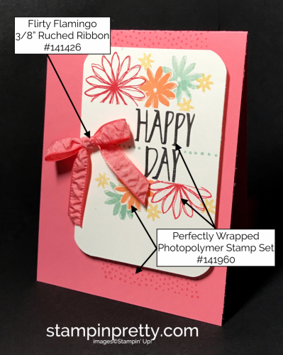 Stampin Up Perfectly Wrapped Birthday card Mary Fish Stampinup