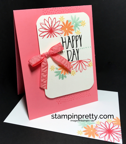 Stampin Up Perfectly Wrapped Birthday card idea Mary Fish Stampinup