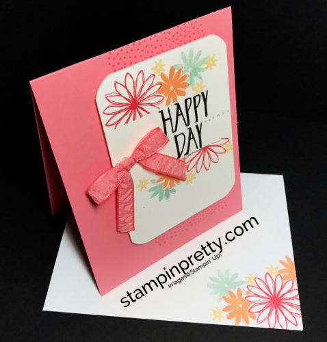 Stampin Up Perfectly Wrapped Birthday cards ideas Mary Fish Stampinup