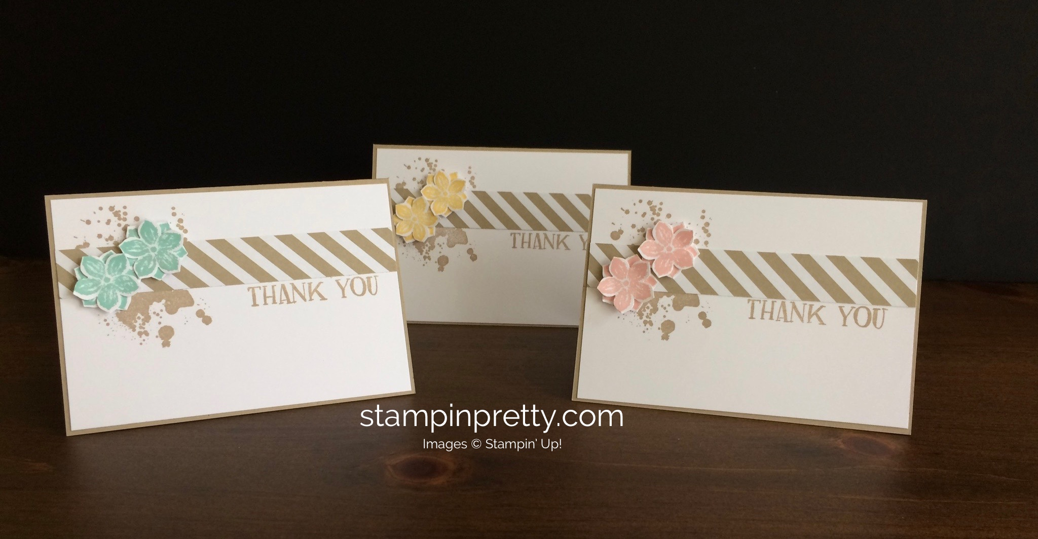 Quick thank you note card trio stampin 39 pretty for Stampin pretty craft room