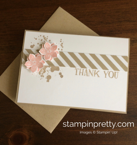 Stampin Up Petite Petals Thank You card idea - Mary Fish stampinup