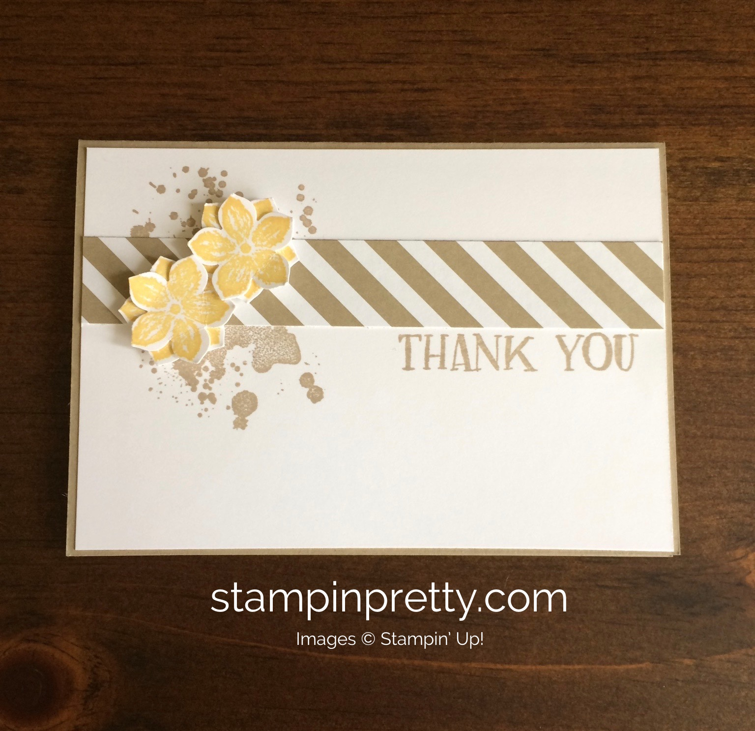 Stampin Up Petite Petals Thank You Card Ideas   Mary Fish Stampinup