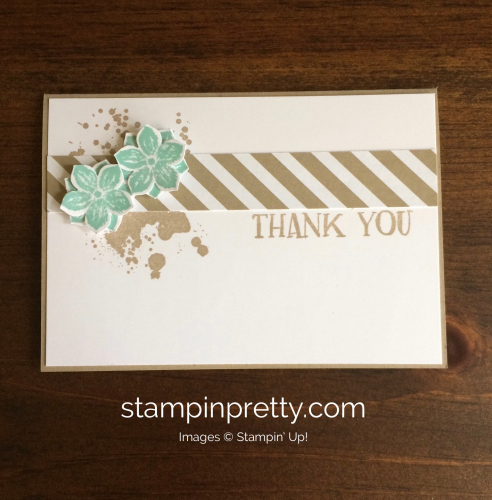 Stampin Up Petite Petals Thank You cards idea - Mary Fish stampinup